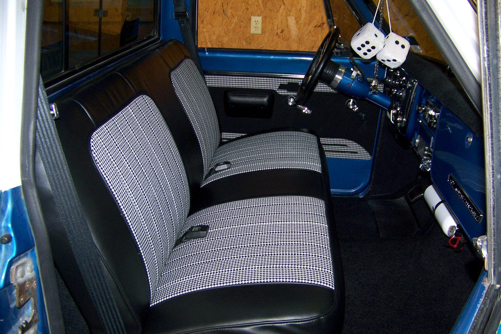 72 Chevy Houndstooth Truck Seat Cover