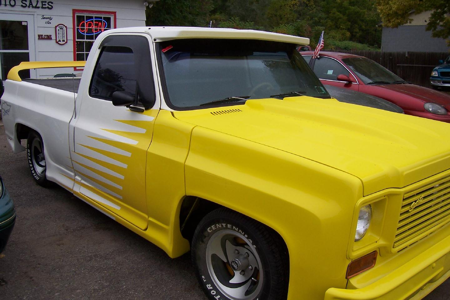 Yellow 75 Chevy Truck