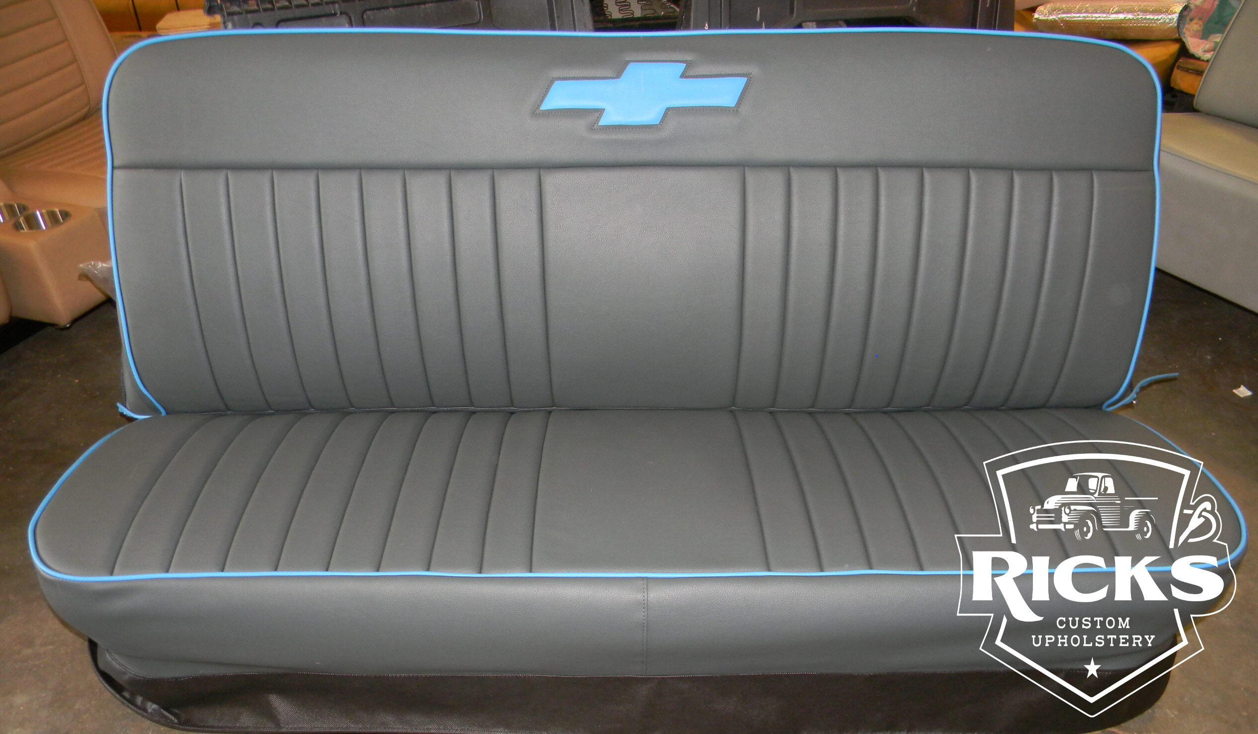Single Bow Tie Truck Bench Seat Covers Rick S Custom