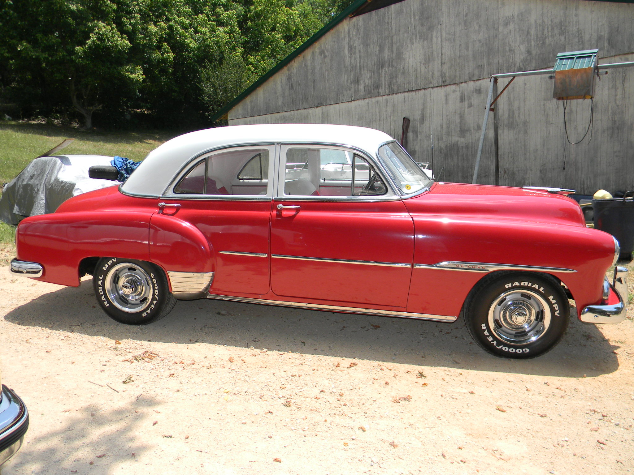 Rick 39 s custom upholstery 1951 red chevy car page for 1951 chevy deluxe 4 door for sale