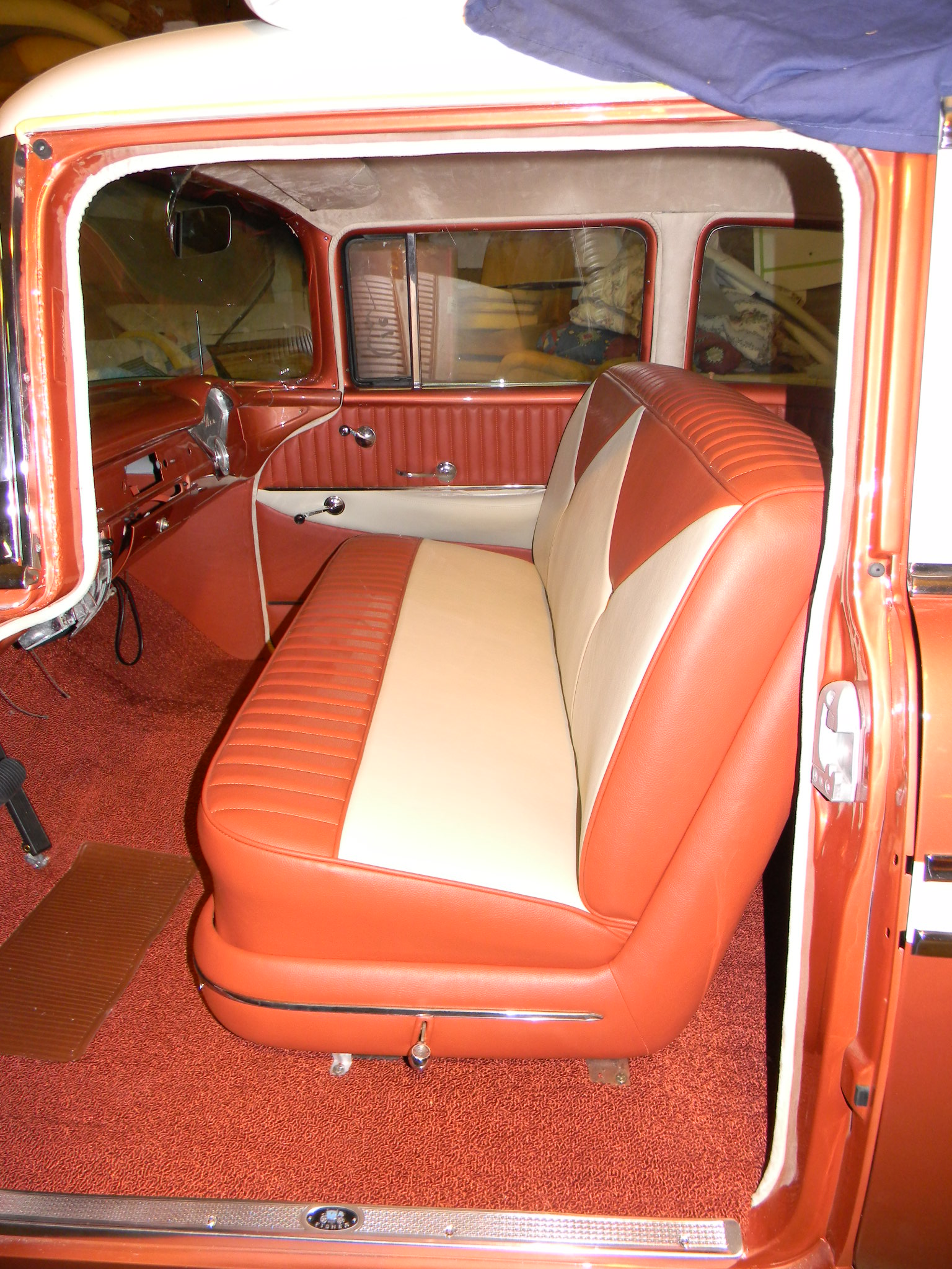 Seat Skins For Trucks >> Rick's Custom Upholstery 56 Chevy 4-door