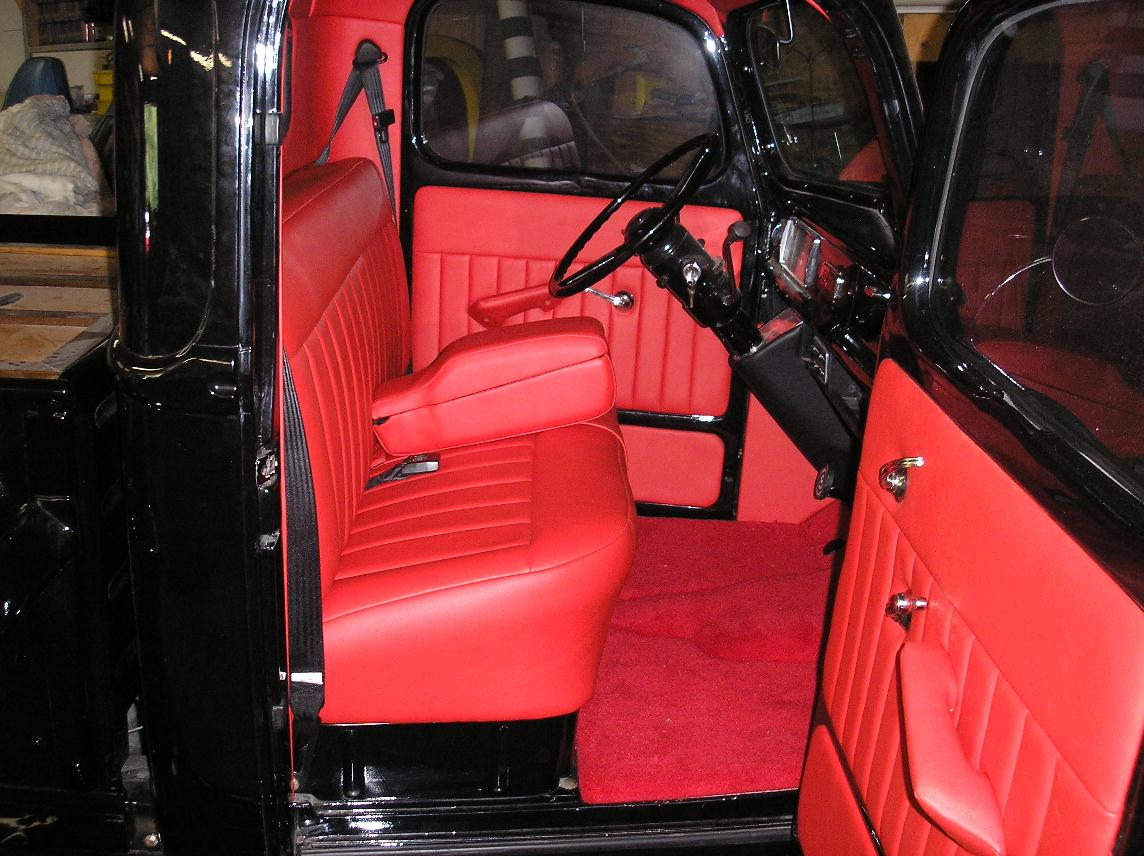 Seat Skins For Trucks >> Rick's Custom Upholstery 40 Ford PU